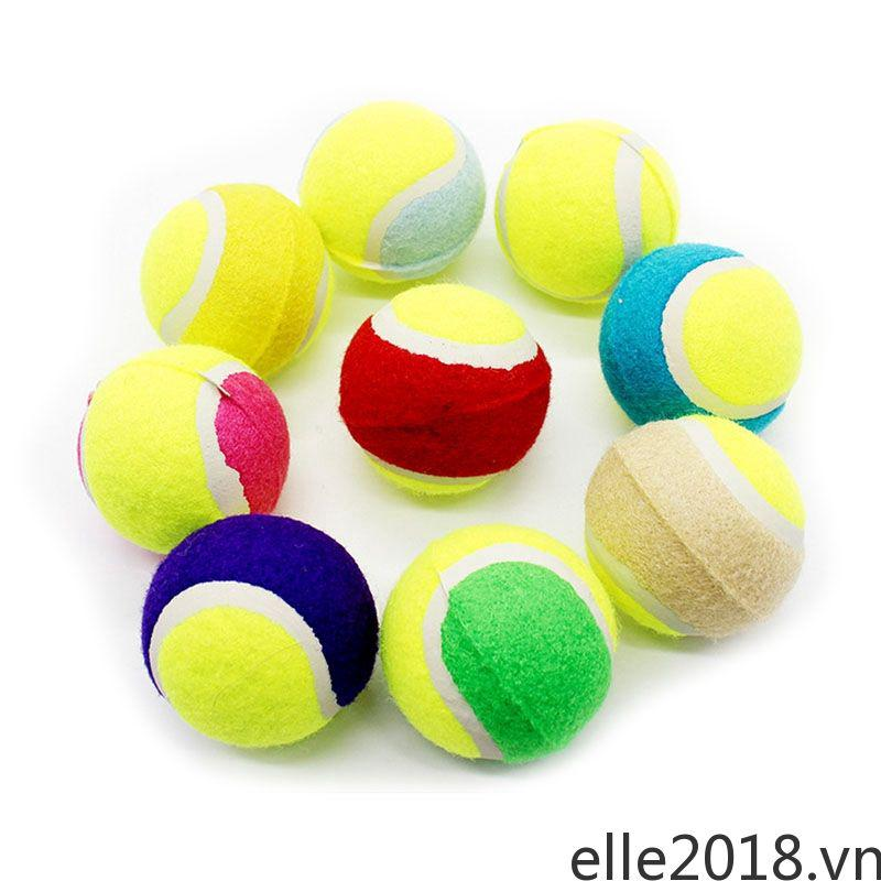 Pet Chewing Natural Rubber Tennis Ball Safe Resistant Bouncy Ball Toy