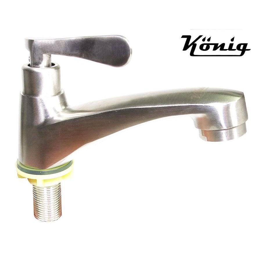 Vòi lavabo lạnh Inox SUS 304 Konig KN-L01 (Xước mờ)