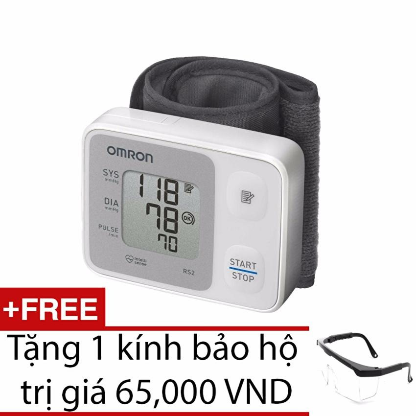 Máy đo huyết áp cổ tay Omron HEM-6121 (Trắng) + Tặng 1 kính bảo hộ - 3028499 , 205337258 , 322_205337258 , 720000 , May-do-huyet-ap-co-tay-Omron-HEM-6121-Trang-Tang-1-kinh-bao-ho-322_205337258 , shopee.vn , Máy đo huyết áp cổ tay Omron HEM-6121 (Trắng) + Tặng 1 kính bảo hộ