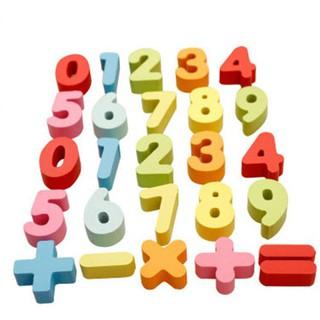 [Hàng Hot]Bộ chữ số đồ chơi giáo dục đa sắc màu giúp bé học toán cao cấp