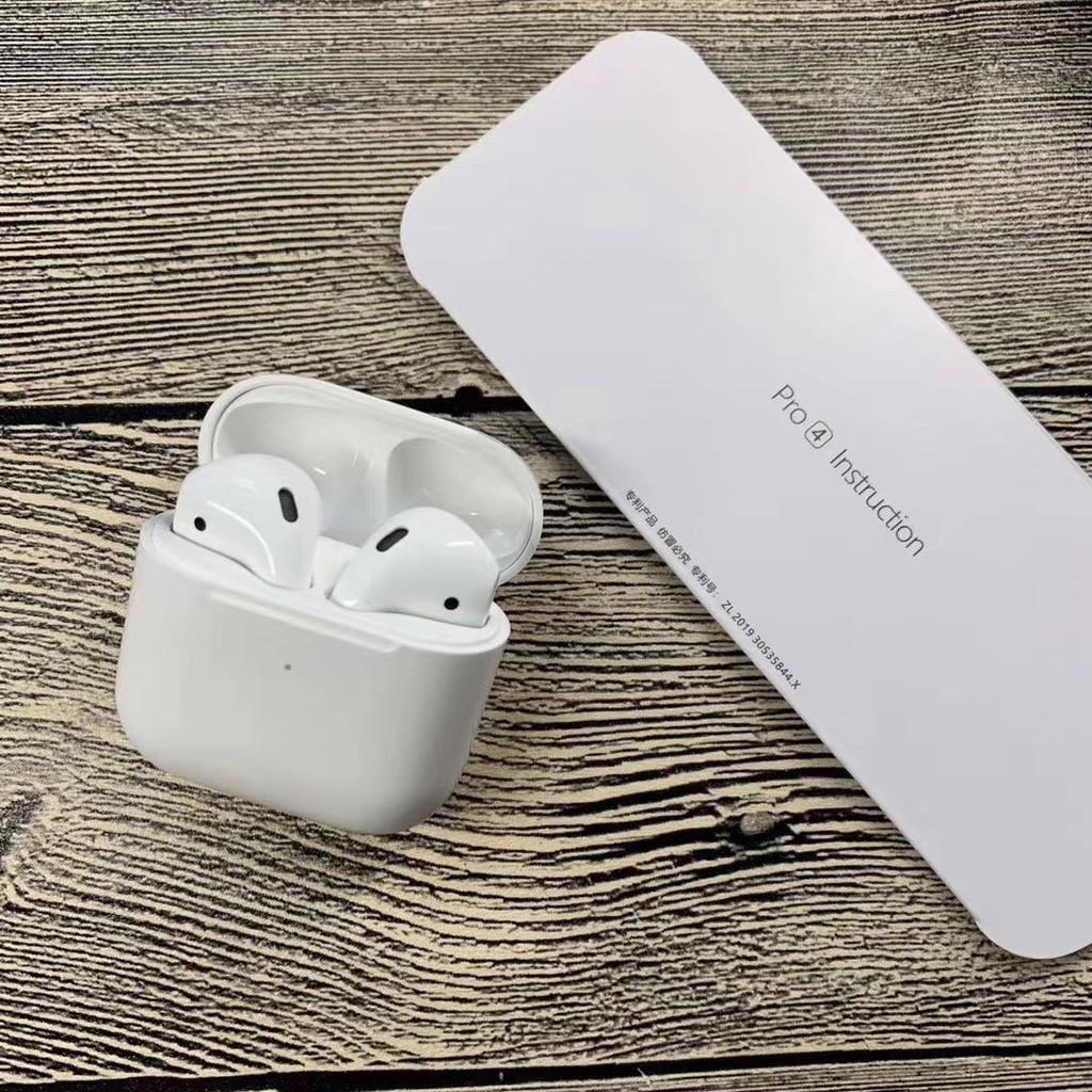 Tai nghe bluetooth không dây mini Pro4 5.0, đổi tên, pop up, mẫu mới thiết kế mini siêu cute, nghe siêu hay