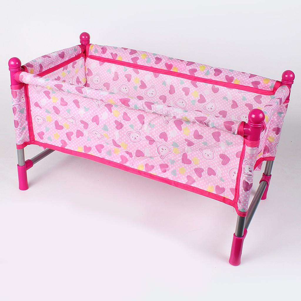 Doll Baby Toddler Bed Crib Playset Children Simulation Furniture Playset Toy