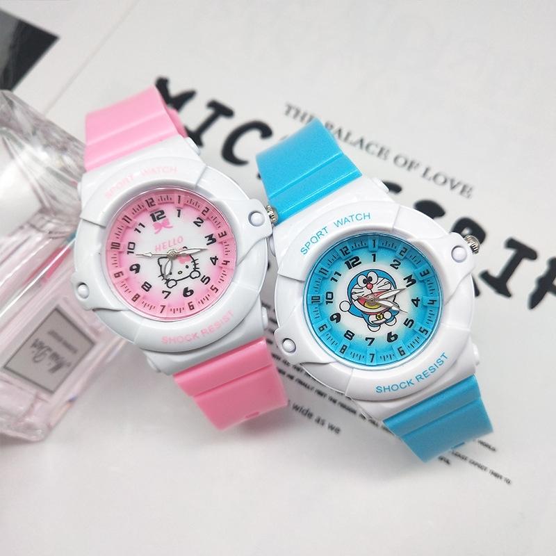 watch เด็ก นาฬิก นาฬิกาแฟชั่น สายรัดข้อมือ สวัสดีคิตตี้โดราเอมอนเด็กดูการ์ตูนซิลิโคน fashion watch