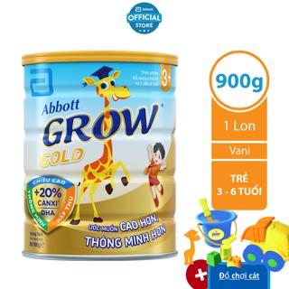 [Tặng đồ chơi xúc cát] Sữa bột Abbott Grow 3 900g