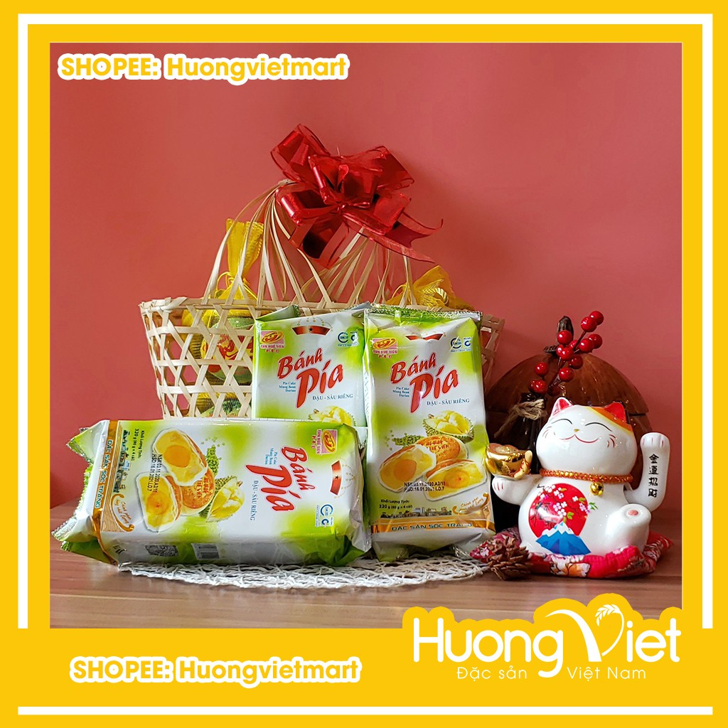 Bánh pía đậu xanh sầu riêng Tân Huê Viên 320g