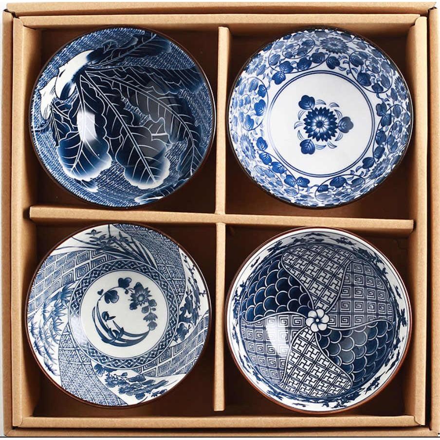 Bộ đĩa men sứ 4 chiếc Nhật Bản   Shopee Việt Nam