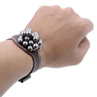 Dây đeo nam châm hít bi kiểu dáng đồng hồ cực thời trang – Da bò 100% mềm mịn