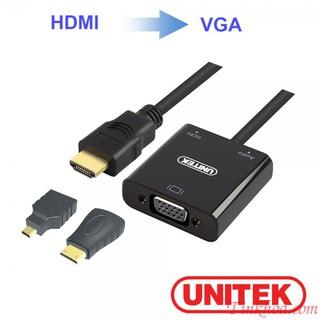 [Mã ELFLASH5 giảm 20K đơn 50K] Cáp chuyển HDMI sang VGA + Audio Unitek Y6355.Bộ chuyển HDMI (3 in 1)