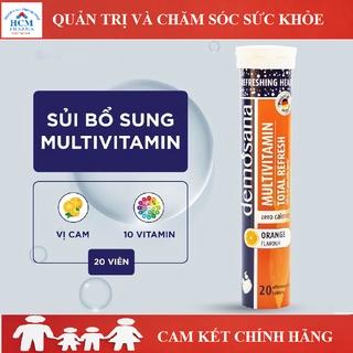 Tăng sức đề kháng vitamin C sủi Multivitamin DEMOSANA vị cam không đường không calo 20 viên 5 gam nhập khẩu Đức thumbnail