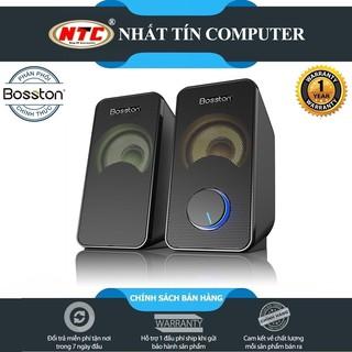 Loa vi tính 2.0 cao cấp Bosston Z220 12W led RGB 7 màu Âm thanh cực hay