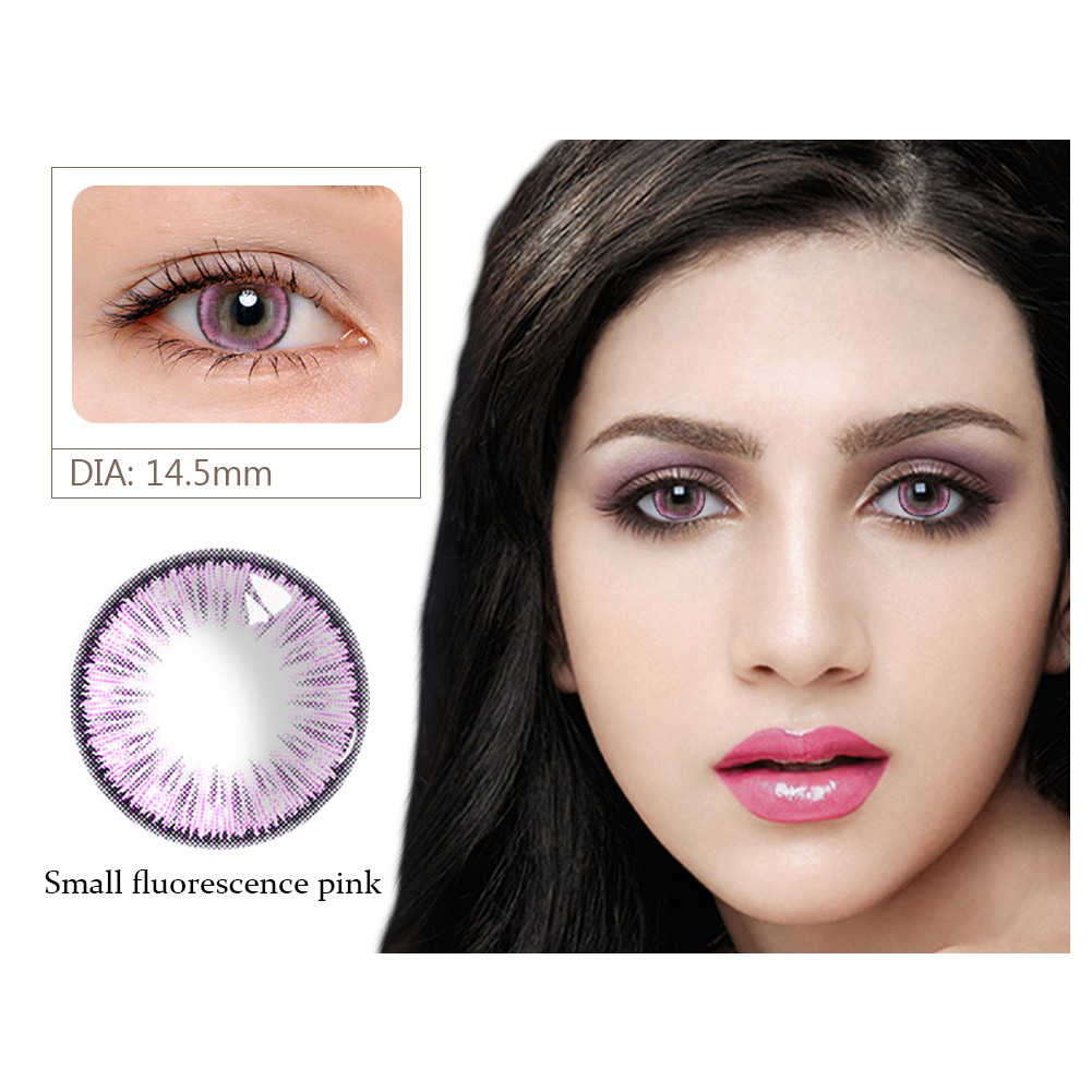 Simrises Fashion Colored Cosmetic Contact Lenses 0 Degree Thin Party Cosplay Makeup Tool