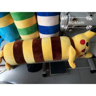 Gối ôm thú bông pikachu size 60-65cm