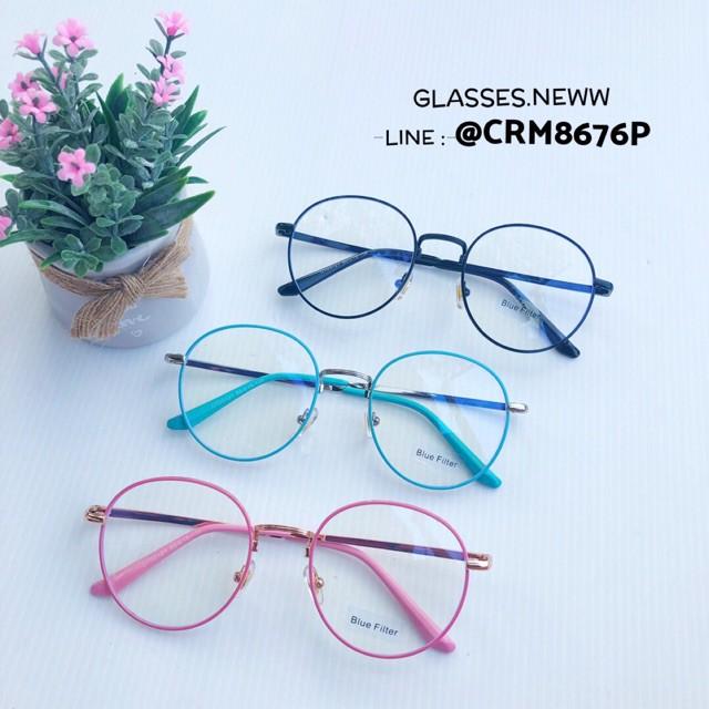 New】แว่นตากรองแสงสีฟ้า ❗️เหมาะสำหรับคนที่อยู่กับคอมนานๆ 🔥สีสดใส คุณภาพดี