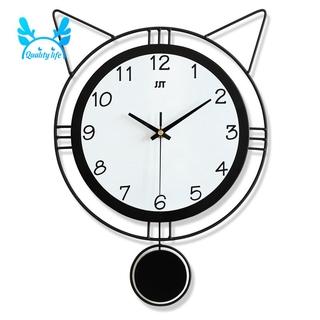 Đồng Hồ Treo Tường Hình Tai Mèo Đáng Yêu 40x29cm