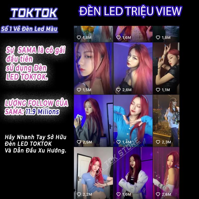 Đèn Led Tiktok nhiều màu TOK TOK đèn neon trang trí, quay video clip triệu views có đui cắm trực tiếp bảo hành 24 tháng.