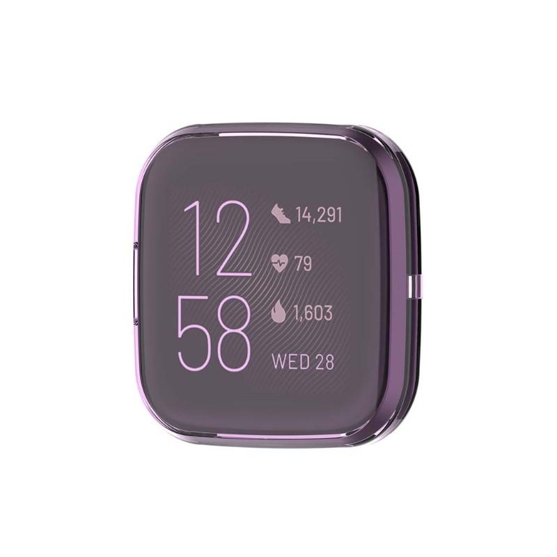 Ốp Bảo Vệ Trong Suốt Siêu Mỏng Cho Đồng Hồ Thông Minh Fitbit Versa 2