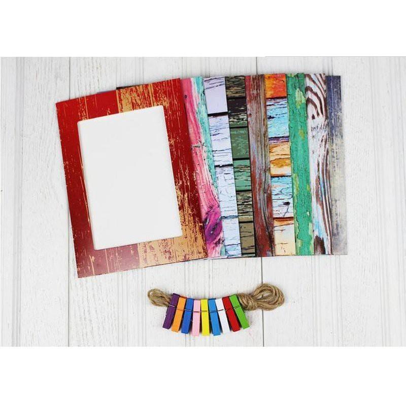 Bộ khung ảnh treo tường giả gỗ - 9938764 , 162112164 , 322_162112164 , 46000 , Bo-khung-anh-treo-tuong-gia-go-322_162112164 , shopee.vn , Bộ khung ảnh treo tường giả gỗ