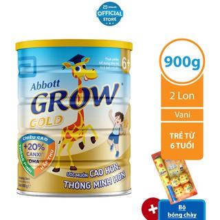 [Tặng Bộ bóng chày] Bộ 02 lon Sữa bột Abbott Grow 6 900g lon