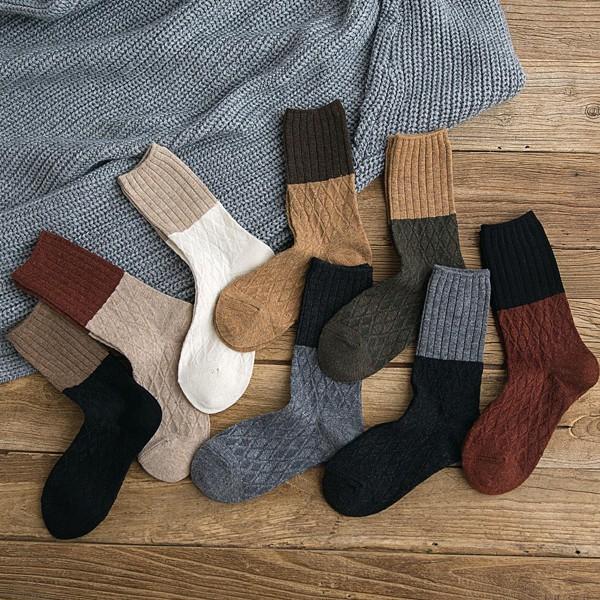 2d82202fbd7cf ... warm wool socks pile so. Women's socks cotton tube socks autumn and  winter models retro wild Japanese Harajuku style Sen Korean