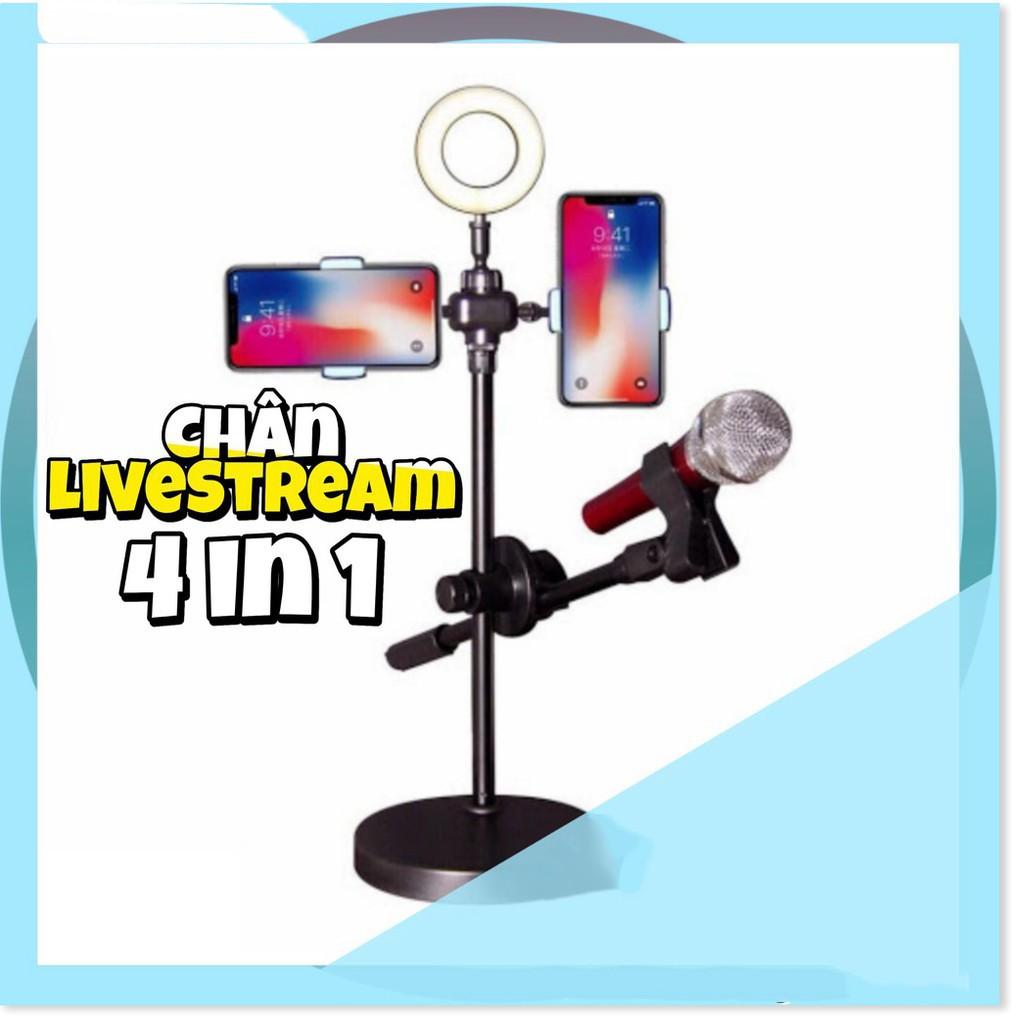 Đèn Livestream Đa Năng 4 in 1 -  Livestream Trên Nhiều Kênh Khác Nhau