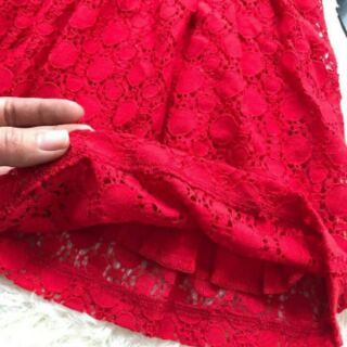 Váy ren đỏ HM sz 80-112cm