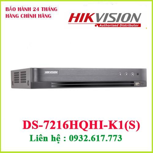 Đầu ghi hình HD-TVI 16 kênh TURBO 4.0 HIKVISION DS-7216HQHI-K1(S)