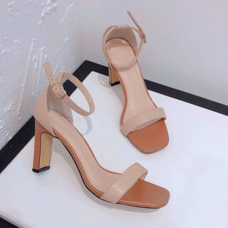miễn ship Giày sandal công sở bít mũi trơn và sọc Nanas