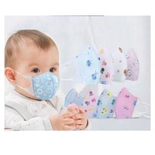 Set 5 khẩu trang trẻ em 3D kháng khuẩn (hàng tốt) in hình dễ thương cho bé 3 tháng – 7 tuổi