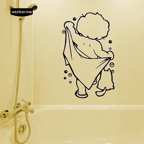 Giấy dán tường hình bé đang tắm – Giấy dán tường