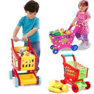 [Đồ chơi nhân vật & nhập vai] xe đẩy siêu thị gồm trái cây cho bé BBC01-WDS