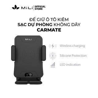 [Mã ELMALL300 giảm 7% đơn 500K] Đế giữ oto kiêm sạc điện thoại không dây Carmate MiLi - HC-G15