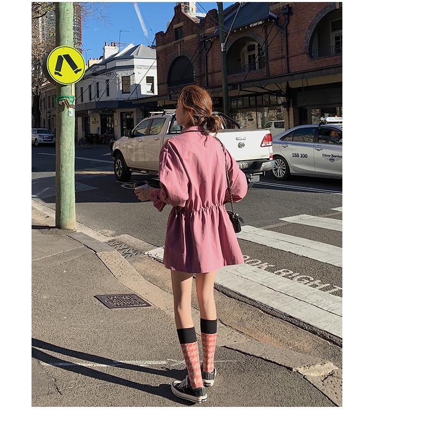 áo gió dáng dài phong cách retro cho nữ