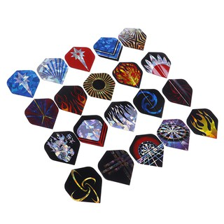 60Pcs 20 Sets Professional Durable PET Dart Flights Dart Tail Darts Accessory