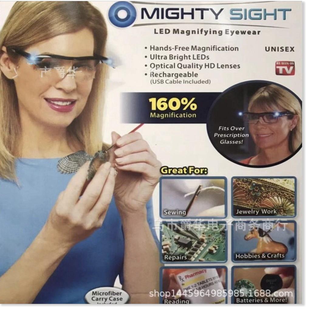 Kính mắt phóng đại 160% LED Nạp Sạc pin Mighty Sight™
