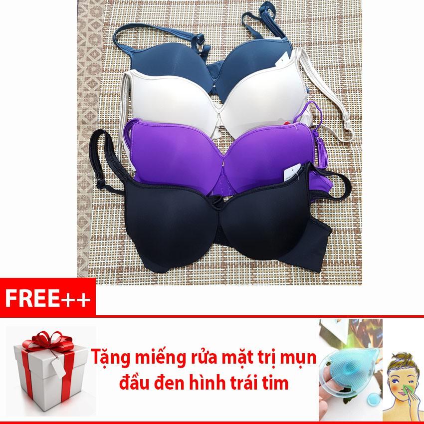 Áo lót ngực không đệm có gọng Thái Lan xuất khẩu + Tặng miếng rửa mặt trái tim