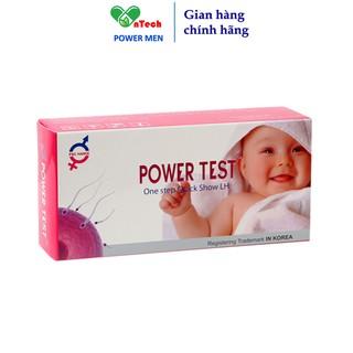 Que thử rụng trứng POWERTEST giúp phát hiện chu kỳ rụng trứng nhanh và chính xác trên 99% hộp 5 que test và 5 cốc thumbnail