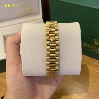 [Chất] [Bảo hành 12th] Đồng hồ nam Rolex 38mm, mặt tròn đính đá cao cấp DH501 MTP-STORE