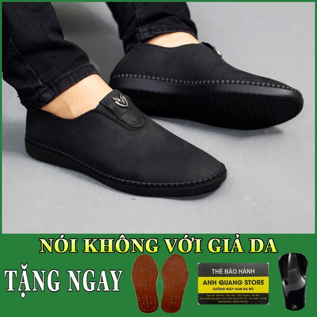 Giày lười nam cao cấp chất liệu da bò nguyên tấm thiết kế mới lạ trẻ trung Gl023