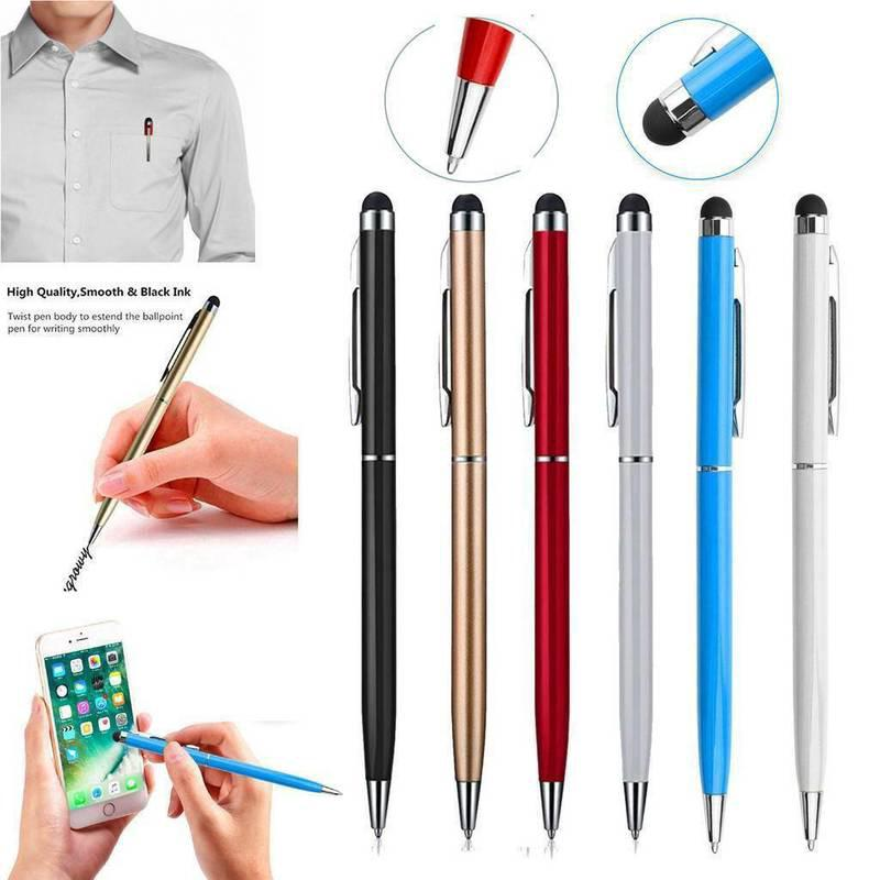 Universal Replacement Capacitive Touch Screen Stylus Pen For phone ipad Silver Stylus Pen