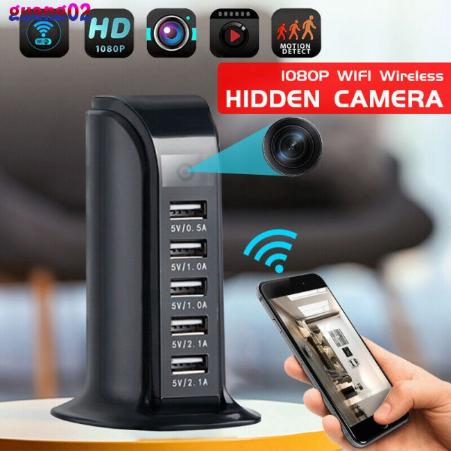 1080P WIFI Camera 5 USB Port Fast Charger Camera Cam Video Recorder