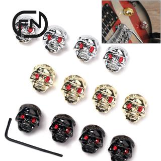 4 pcs Skull Head Knob Volume Tone Control Knob for Guitar