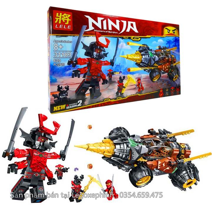 Bộ Lego Xếp Hình Ninjago Siêu Xe Chiến Đấu. Gồm 620 Chi Tiết. Lego Ninjago Lắp Ráp Đồ Chơi Cho Bé
