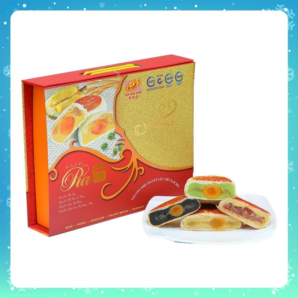 Hộp quà Bánh Pía 6 sao 4 vị Tân Huê Viên 600g (4 cái x 150g) (date  12/11/2019) | Shopee Việt Nam