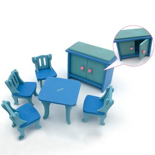 BOBORA Baby Wooden Dollhouse Furniture Dolls House Miniature Child Play Toys Gifts