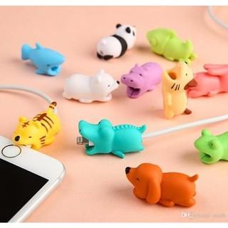 Yêu Thích[20 mẫu] Phụ kiện thú silicon bọc bảo vệ đầu dây cáp sạc USB Cable Bite siêu cute siêu dễ thương