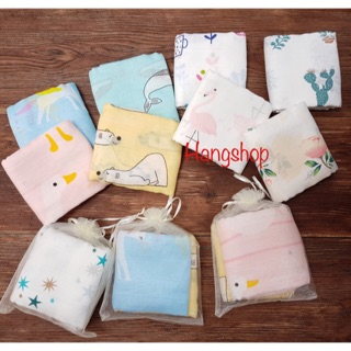 10 khăn sữa ADEN 2 lớp cho bé