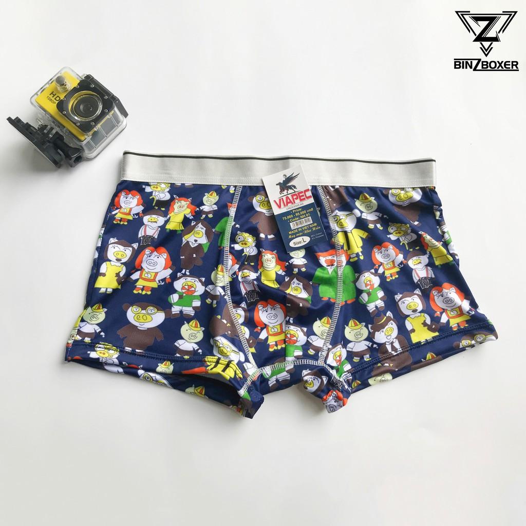 COMBO 4 quần sịp đùi nam hình hoạt hình quần lót cute (có co giãn)