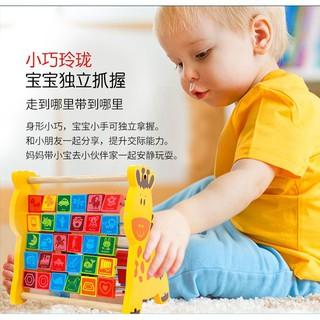 Bộ học chữ và số đa năng hình con hươu trí tuệ cho bé_Đồ chơi gỗBabyDragon