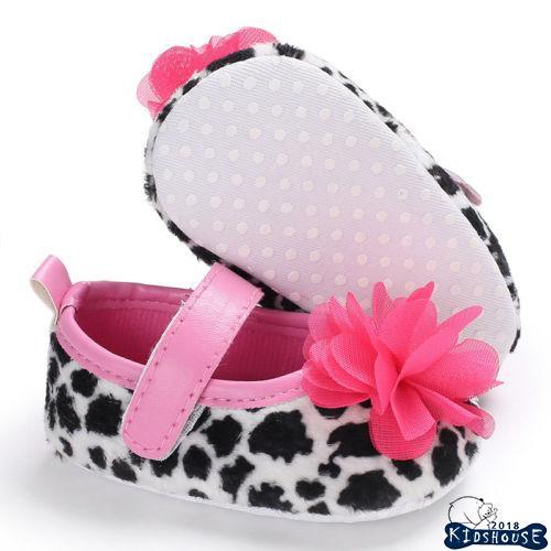 H-C★Newborn Baby Girl Flower Anti-slip Crib Shoes Soft Sole Prewalker Shoes