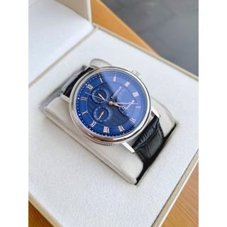 Đồng hồ nam  Thomas Earnshaw Men's ES Beaufort Blue Dial Leather Watch dây da đen chính hãng